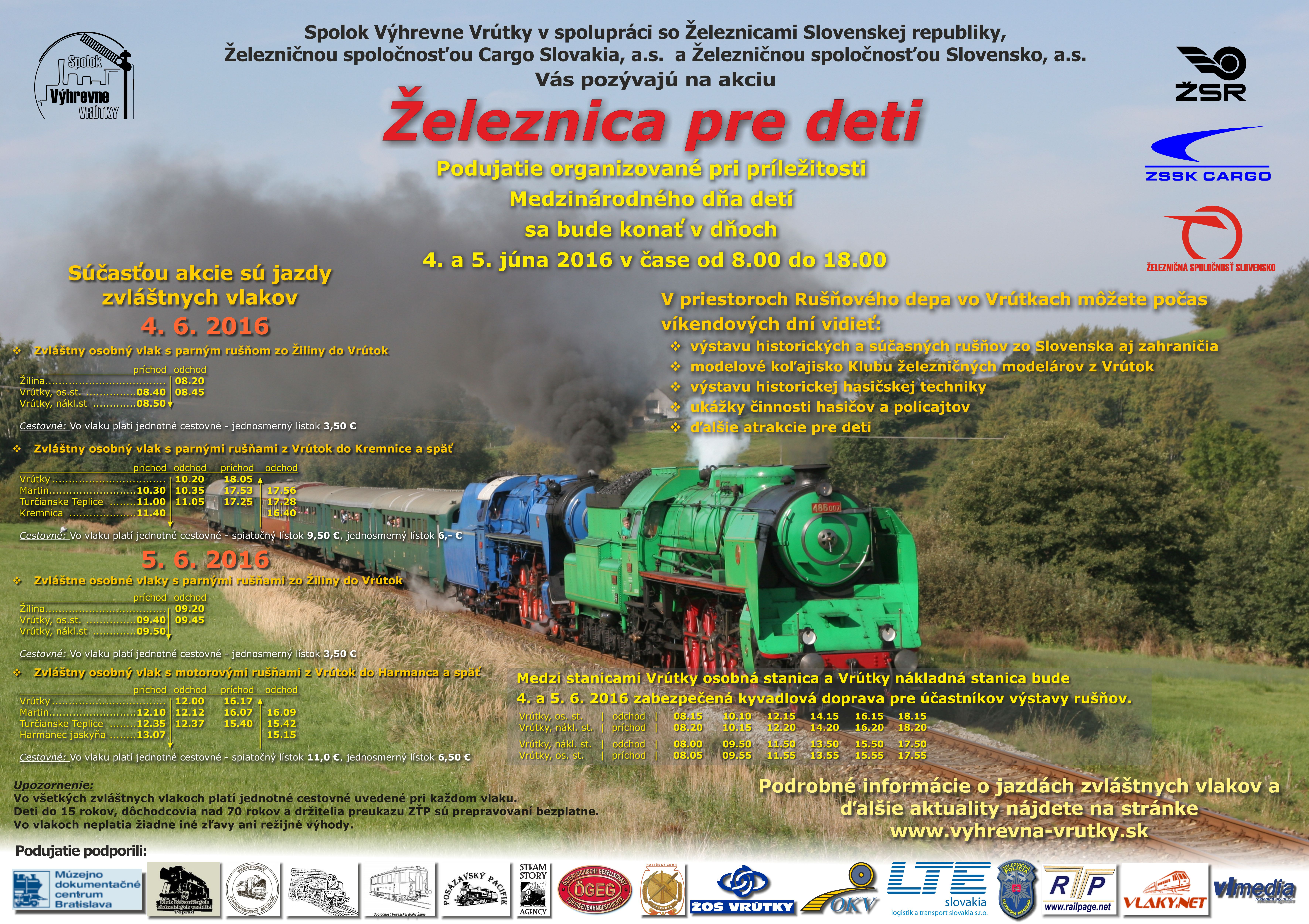Železnica pre deti 2016